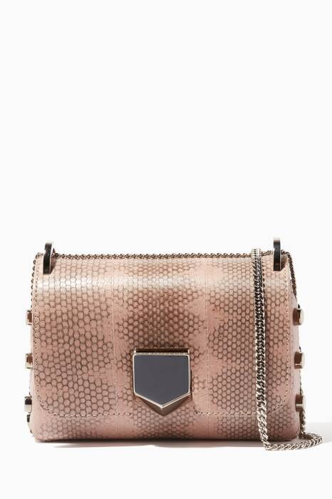 Beige Mini Lockett Elaphe Shoulder Bag