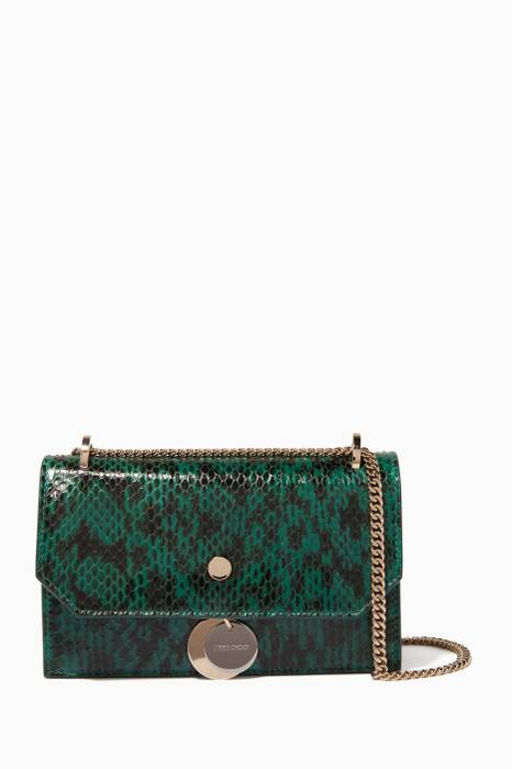 Emerald-Green Mini Elaphe Finley Shoulder Bag