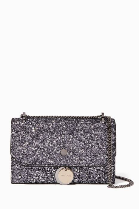 Silver Mini Finley Glitter Cross-Body Bag