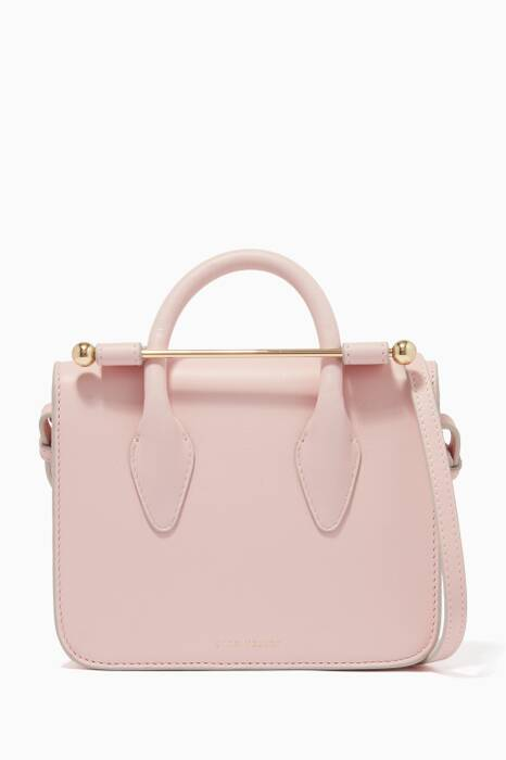 Dusty Pink MC Nano Leather Satchel