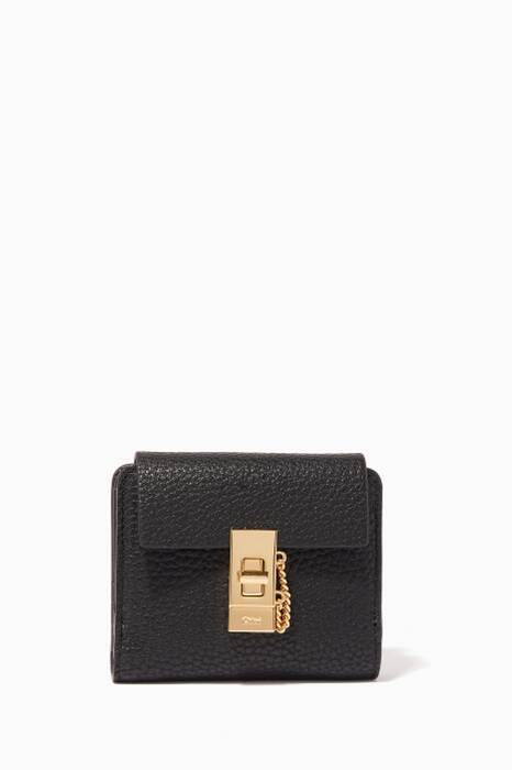 Black Small Square Drew Wallet