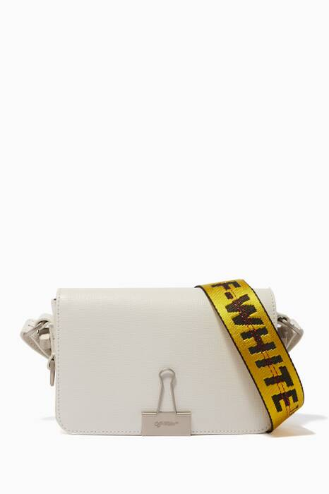 White Leather Mini Flap Bag