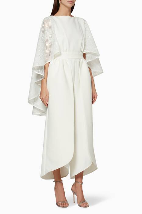 Off-White Cape Overlay Emma Jumpsuit