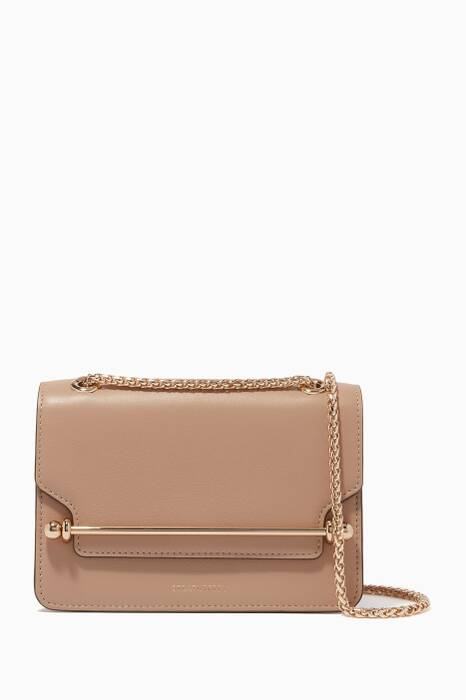 Beige Mini East/West Shoulder Bag