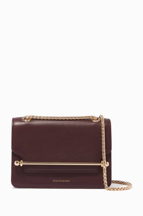 Burgundy Mini East/West Shoulder Bag