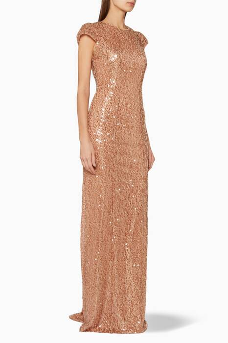 Copper Estrella Sequin Gown