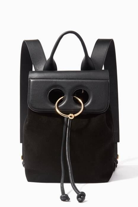 Black Mini Pierce Suede Backpack