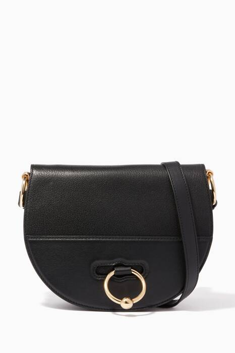 Black Latch Cross-Body Bag