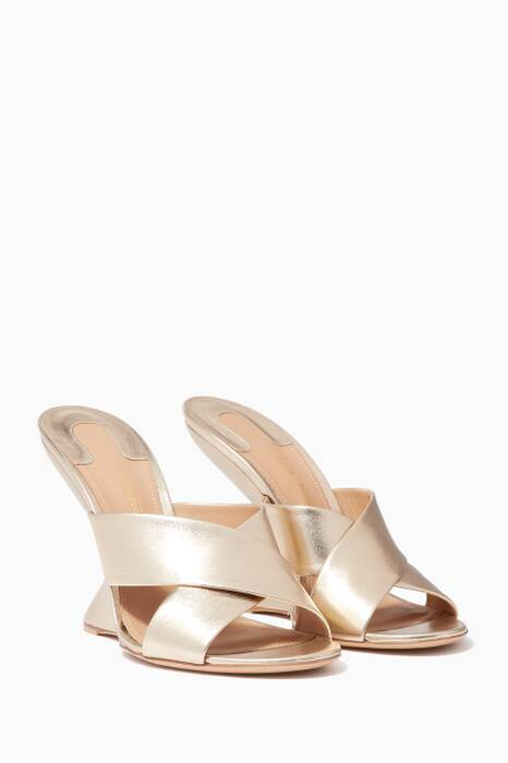 Gold Alcamo Criss-Cross Sandals