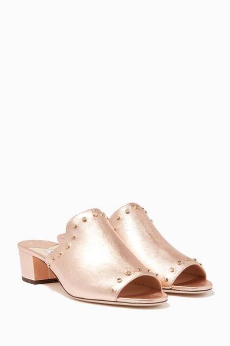 Rose-Gold Myla Studded Sandals