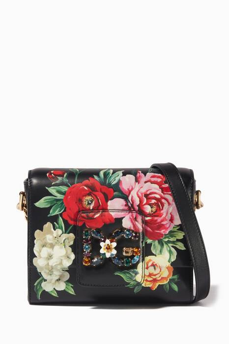 Mini Rose Embellished Millennials Shoulder Bag