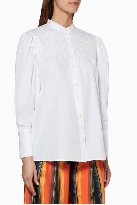 White Pin Tuck Shirt