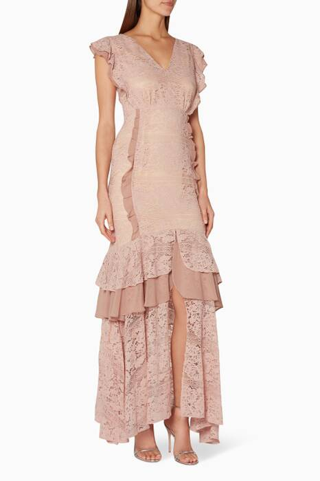 Dusty-Pink Margot Fishtail Gown