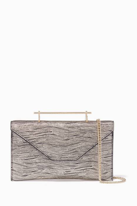 Gold Mini Annabelle Wave Print Shoulder Bag