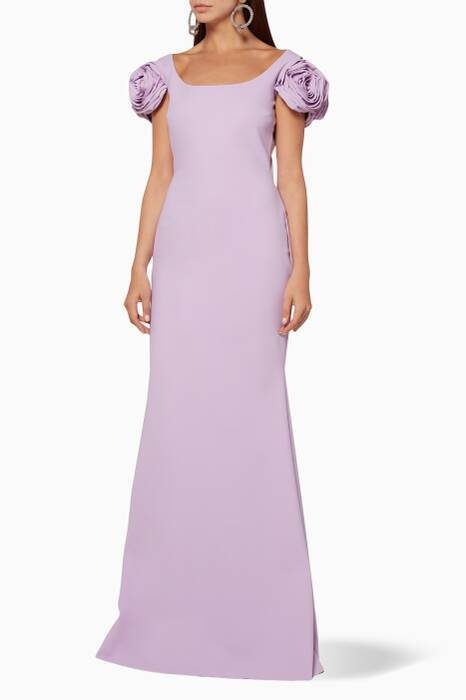 Light-Purple Merijeme Long Rose Gown
