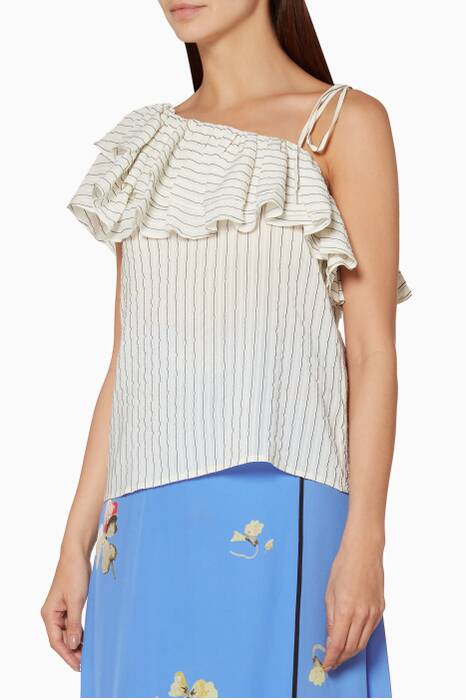Off-White Striped Wilkie Top