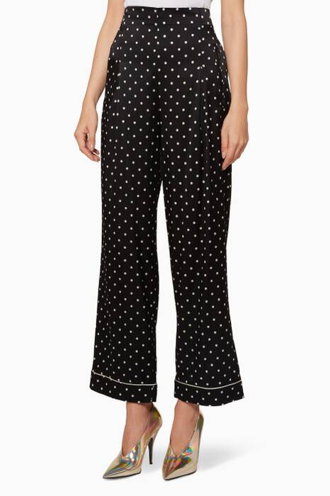 Black & Ivory Printed Pyjama Pants