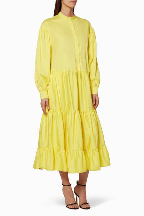 Yellow Amarna Midi Dress