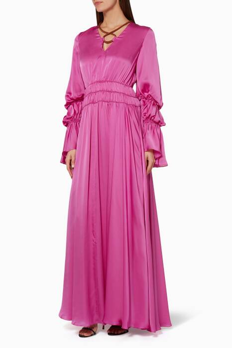 Fuchsia Ansari Maxi Dress