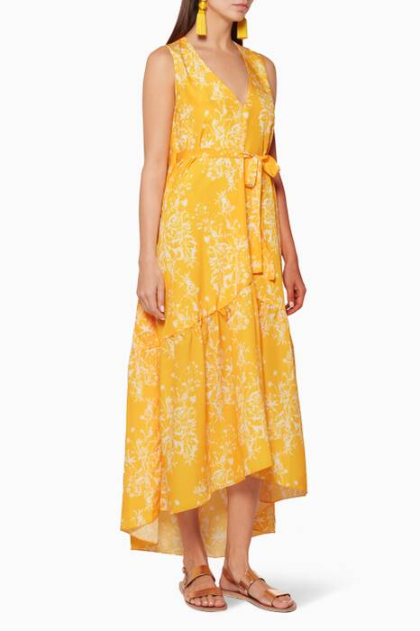 Yellow Wild Bloom Printed Dress