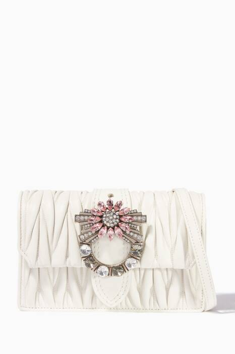 White Miu Lady Cross-Body Bag