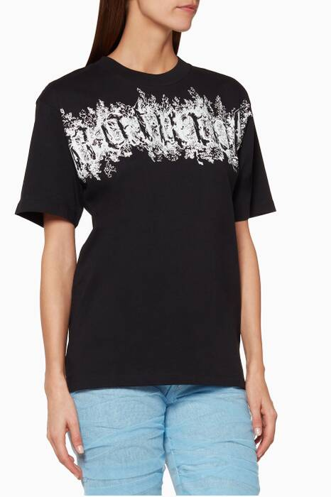 Black Printed Short-Sleeve T-Shirt