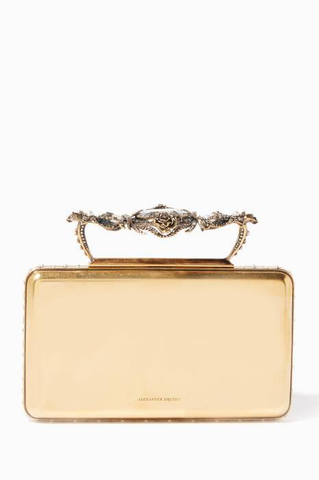 Gold Ottone Small Jewelled Clutch