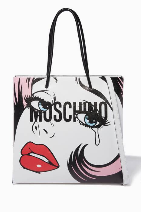White Eyes Graphic-Print Tote Bag