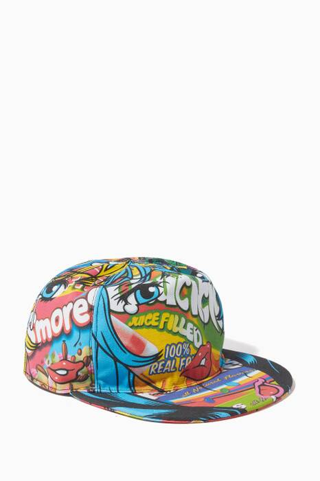 Multi-Coloured Pop Art Printed Baseball Hat