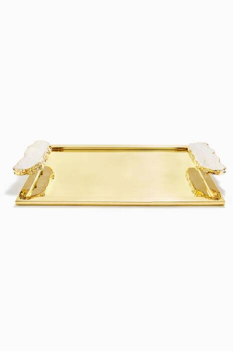 Gold Medium Héritage Crystal Tray