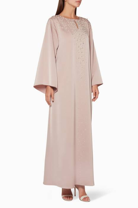 Light-Pink Vanishing Point Kaftan