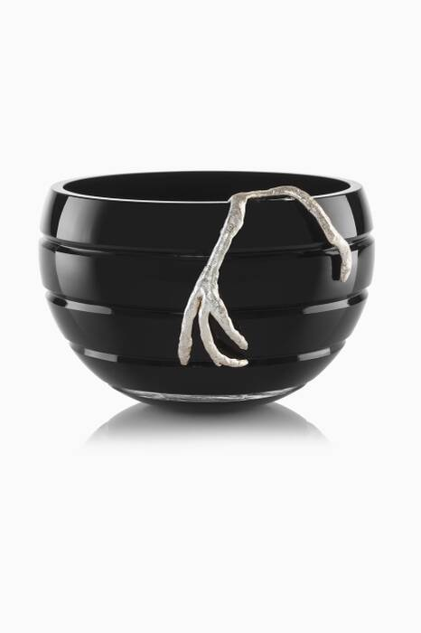 Silver Plated Branch Bowl