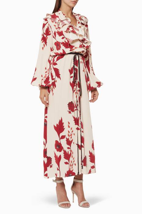 Ecru & Merlot Cape Of Good Hope Kimono