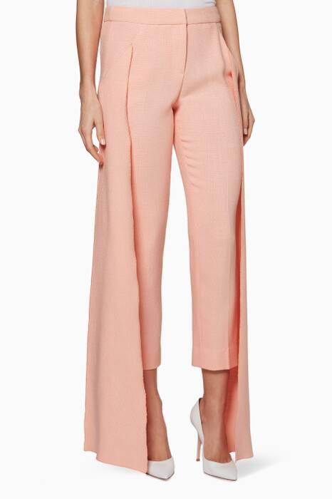 Light-Pink Side-Panel Cigarette Pants
