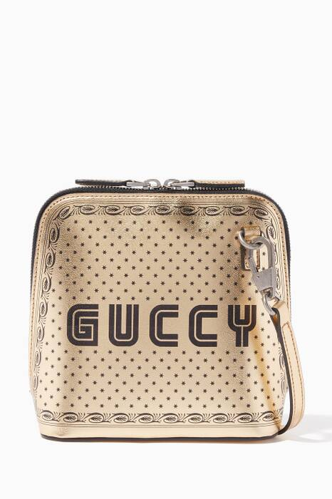 Metallic Gold Mini Guccy Shoulder Bag