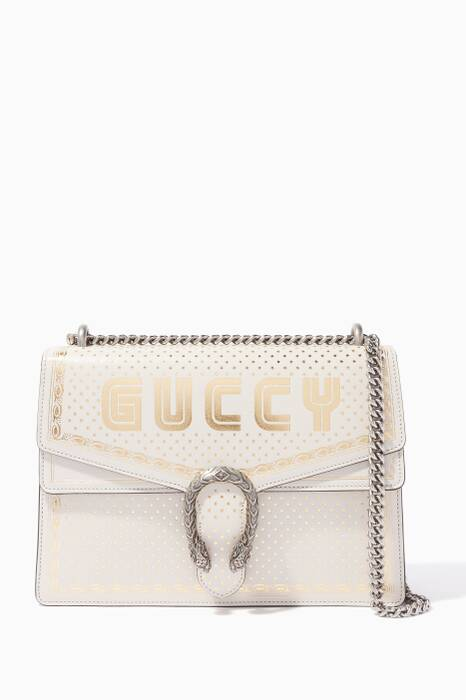White Guccy Dionysus Medium Shoulder Bag