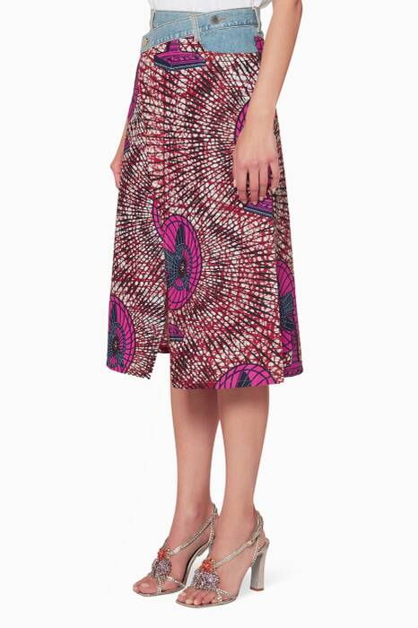 Multi-Coloured Avery Printed Wrap Skirt