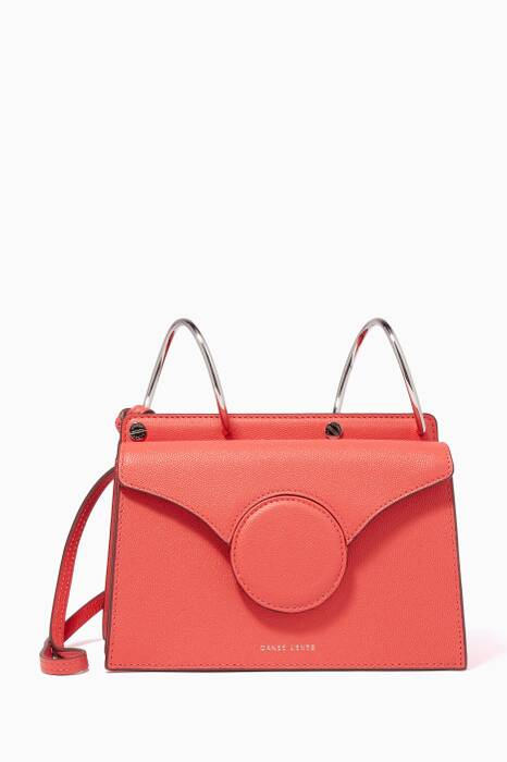 Coral Mini Leather Phoebe Bag