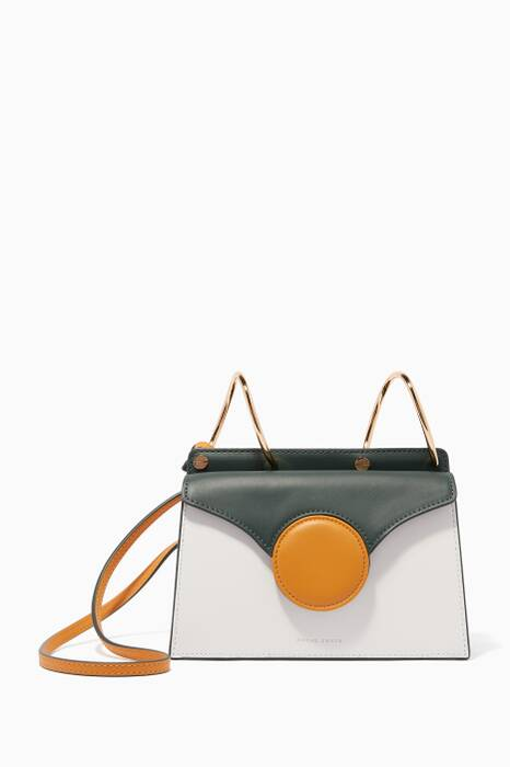 White Mini Phoebe Leather Shoulder Bag