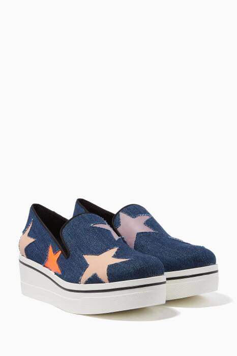 Dark-Blue Denim Star Binx Loafers