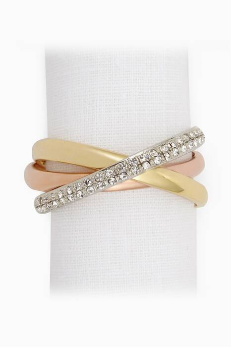 Gold Tri-Colour Napkin Ring Set of Four
