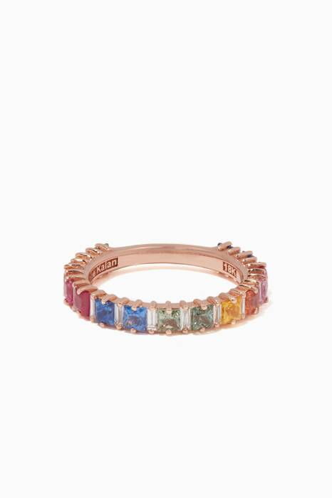Rose-Gold & Rainbow Saphire Emily Band