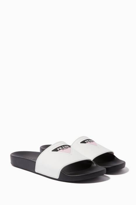White Logo Pool Slides