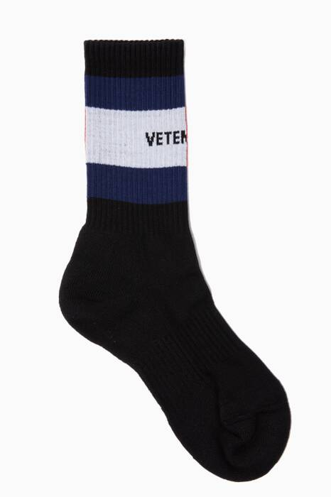 Black Vetements X Tommy Hilfiger Socks