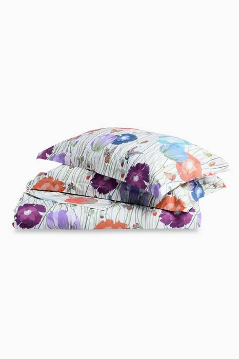 Light-Purple Violante Floral Print Duvet Set
