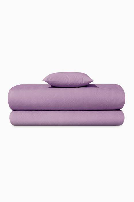 Purple Jo 23m Flat Sheet, Fitted Sheet & Pillowcase Set