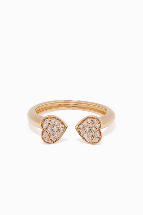 Yellow-Gold & Hearts Ring