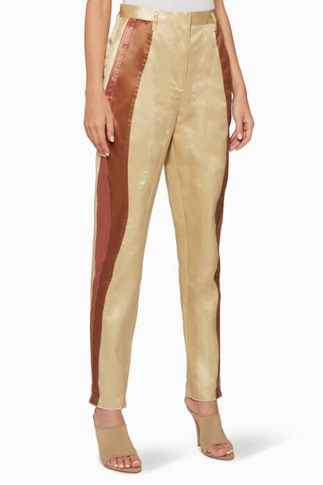 Beige Vintage-Inspired Pants