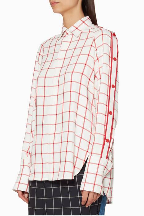 Ivory & Red Windowpane Shirt