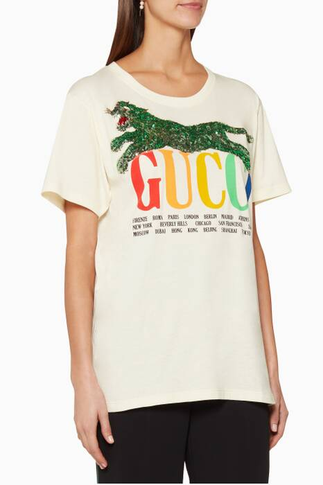Off-White Printed Cities T-Shirt